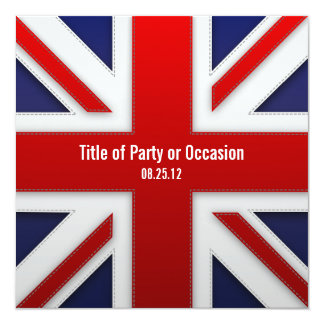 Invitation de partie d'Union Jack/invitation