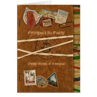 Invitation de passeport de fiesta