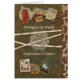 Invitation de passeport de safari