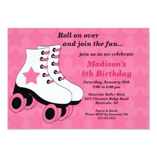 Invitation de patinage de fête d'anniversaire