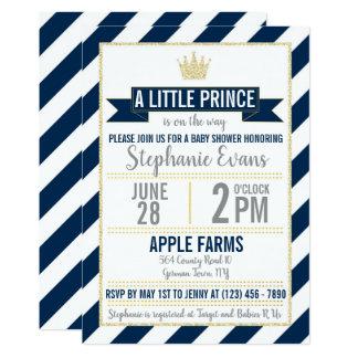 Invitation de prince baby shower de parties