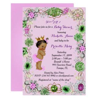 Invitation de princesse baby shower, petite