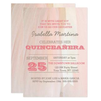 Invitation de Quinceañera de tutu de ballet