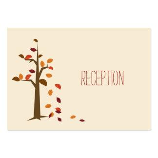invitation de réception de mariage de automne modèles de cartes de visite