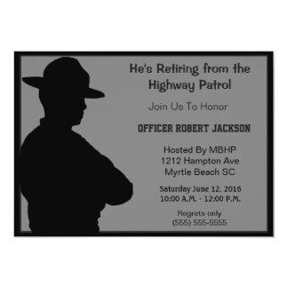 Invitation de retraite d'agent de police de route