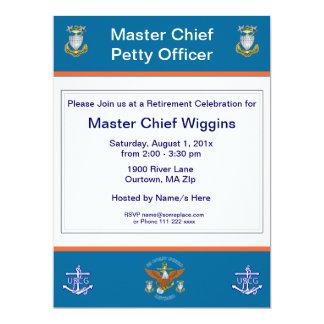 Invitation de retraite d'ancre d'USCG MCPO Eagle
