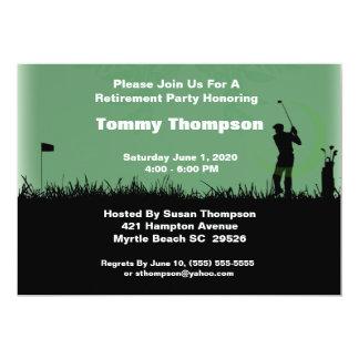 Invitation de retraite de golf