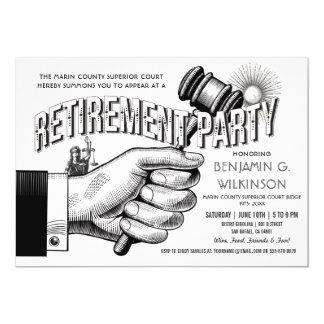 Invitation de retraite de juge - cru de partie