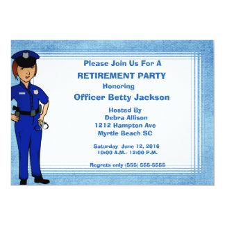 Invitation de retraite de policier de Madame