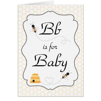 Invitation de ronflement de baby shower d'abeilles