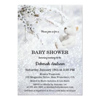 Invitation de scintillement de baby shower d'hiver