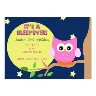 Invitation de Sleepover de hibou