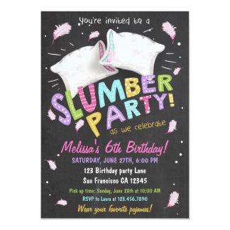 Invitation de Sleepover de pyjamas de soirée