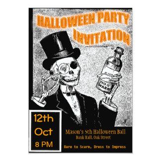 Invitation de squelette de partie de Halloween