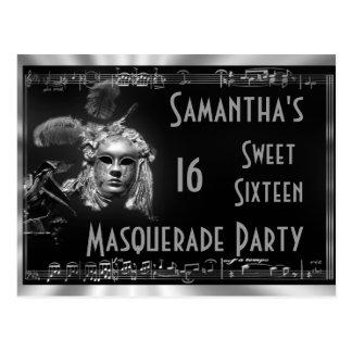 Invitation de sweet sixteen de carnaval