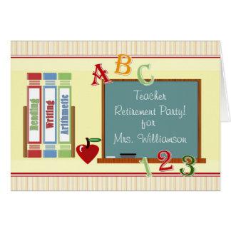 Invitation de tableau de retraite de professeur carte de vœux
