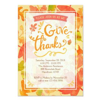 Invitation de thanksgiving, dîner de thanksgiving
