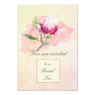 Invitation de thé d'aquarelle de magnolia