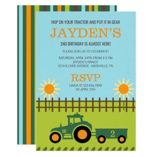 Invitation de tracteur/de fête d'anniversaire de