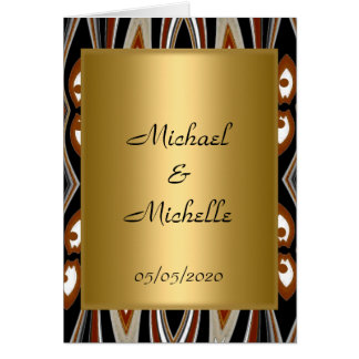 Invitation de tribal d'or de mariage carte de vœux