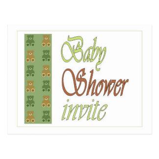 Invitation de vert de baby shower