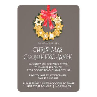 Invitation d'échange de biscuit de Noël de