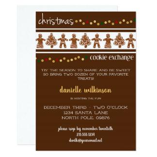 Invitation d'échange de biscuit de Noël de pain