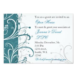 invitation d'entreprise de partie d'aqua élégant