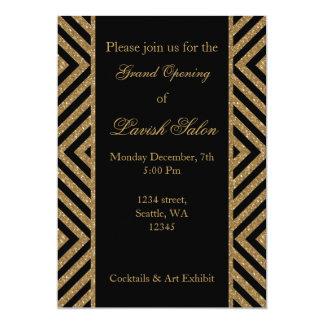 invitation d'entreprise élégante de partie d'or