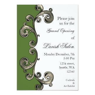 invitation d'entreprise élégante verte de partie