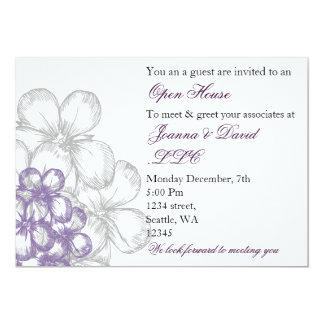 invitation d'entreprise pourpre élégante de partie