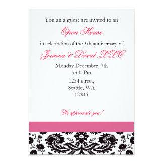 Invitation d'entreprise rose élégante de partie