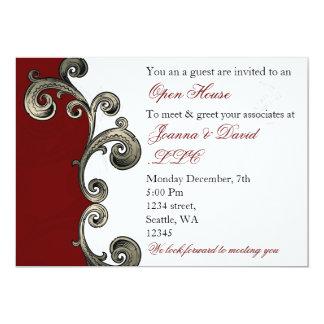 invitation d'entreprise rouge élégante de partie