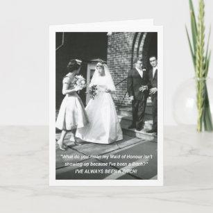 Invitation Domestique de jeune mariée d'honneur garce