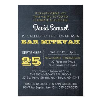 Invitation d'or de Mitzvah de barre de tableau