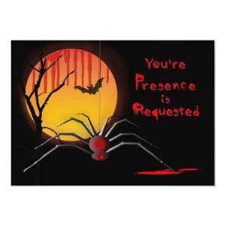 Invitation éffrayante de partie de Halloween -