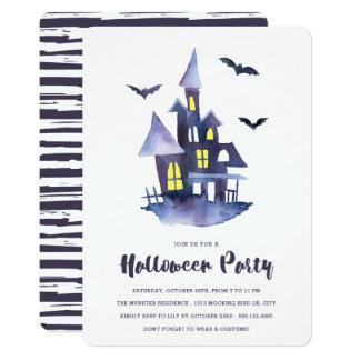Invitation éffrayante de partie de Halloween de