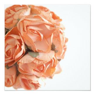 Invitation élégante de bat mitzvah de roses de carton d'invitation  13,33 cm