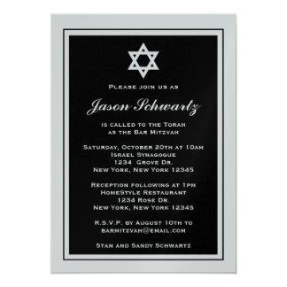 Invitation élégante de Mitzvah de barre -