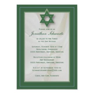 Invitation élégante de Mitzvah de barre de tissu