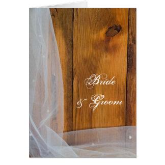 Invitation en bois nuptiale de mariage campagnard