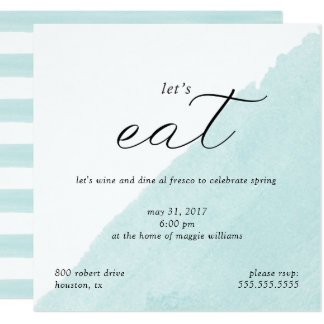 Invitation en bon état de dîner d'aquarelle