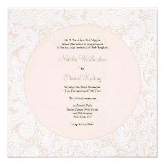 Invitation en ivoire de mariage de monogramme de