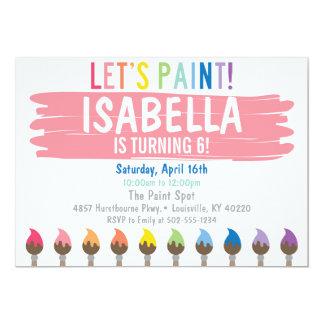 Invitation en pastel de partie de peinture
