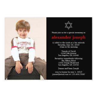 Invitation étoilée de Mitzvah de barre de photo