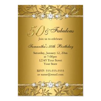 Invitation fabuleuse d'anniversaire de la feuille