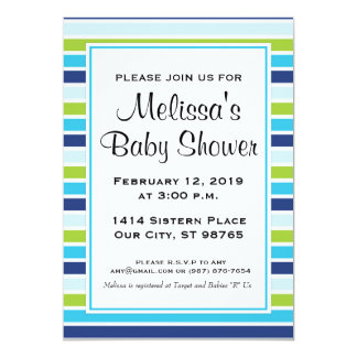 Invitation faite sur commande de baby shower de