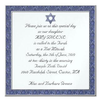 Invitation faite sur commande de bat mitzvah d'éto