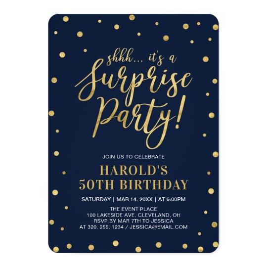 Invitation Fete D Anniversaire De Surprise D Adulte Fete D