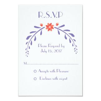 Invitation feuillu de mariage de fleur - RSVP